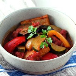厚揚げと夏野菜のラタトゥイユ